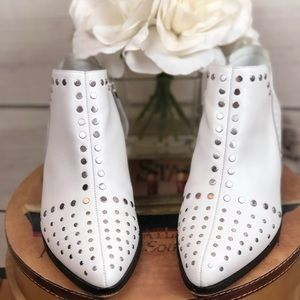 Booties ankle silver studs around front